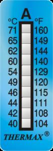 Cintsa Irreversible de temperatura Thermax