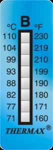 Cinta de medición de temperatura